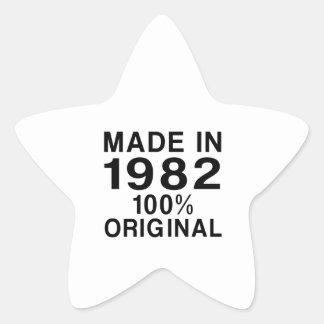 Gjort i 1982 stjärnformat klistermärke
