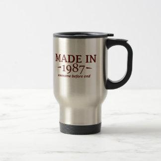 Gjort i 1987 rostfritt stål resemugg