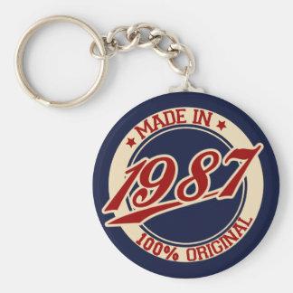 Gjort i 1987 rund nyckelring