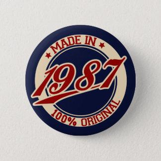 Gjort i 1987 standard knapp rund 5.7 cm