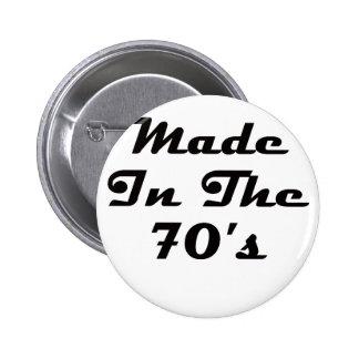 Gjort i 70-tal standard knapp rund 5.7 cm