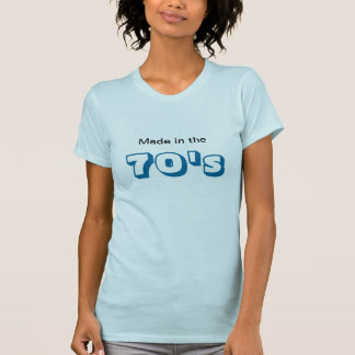 Gjort i 70-talskjortan för henne tee shirts