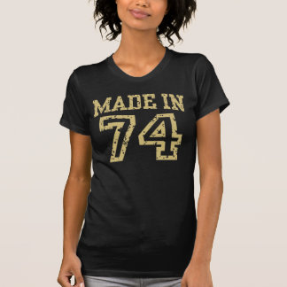 Gjort i 74 t-shirts