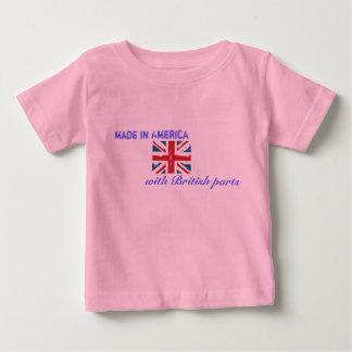 Gjort i Amerika med brittiska delar Tshirts