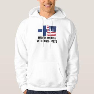 Gjort i Amerika med finlandssvenska delar Sweatshirt Med Luva
