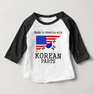Gjort i Amerika med koreanska delar Tee Shirts