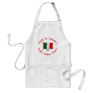 Gjort i amerikan med italienska delar förkläde