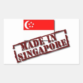 Gjort i den Singapore klistermärken