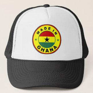 gjort i frimärke för runda för etikett för ghana keps
