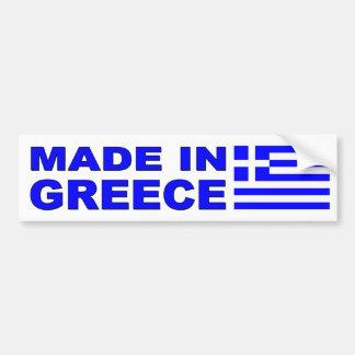 Gjort i Grekland bildekal med grekisk flagga