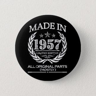 Gjort i knäppas 1957 roliga 60th födelsedag standard knapp rund 5.7 cm