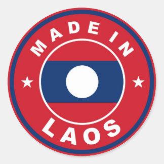 gjort i runda för etikett för produkt för laos