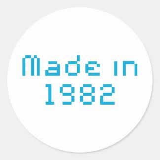 Gjort i skjortan 1982 runt klistermärke