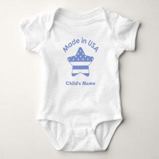 Gjort i USA den baby blue T-tröja