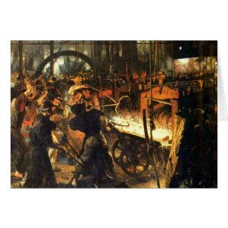 Gjuterit - Adolph Von Menzel Hälsningskort