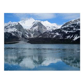 Glaciärfjärd med reflexion vykort