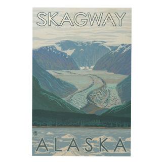 Glaciärplats - Skagway, Alaska Trätavla