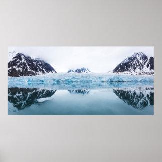 Glaciärreflexioner, norge poster