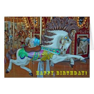 Glad-Gå-Runda häst, födelsedag Hälsningskort