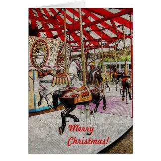 Glad-gå-runda julkort hälsningskort