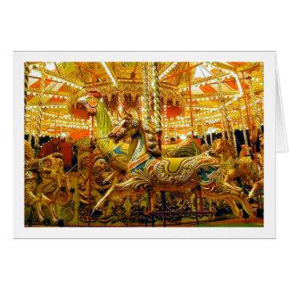 Glad-gå-runda/karusell Hälsningskort