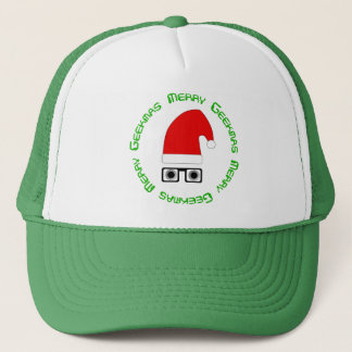 Glad Geekmas hatt Truckerkeps