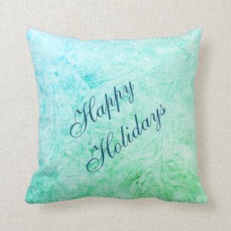 Glad helg blått och gröntfrostdesign kudde