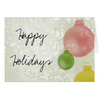 Glad helg: Färgrika julprydnadar Hälsningskort