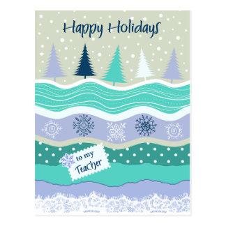 Glad helg för läraresnöflingor Scrapbooking Vykort