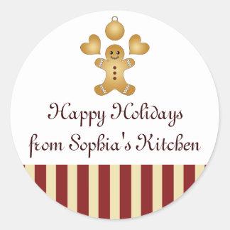 Glad helg - hemlagad julkakadesign runt klistermärke