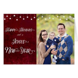 Glad helg/Joyous foto för nytt år Hälsningskort