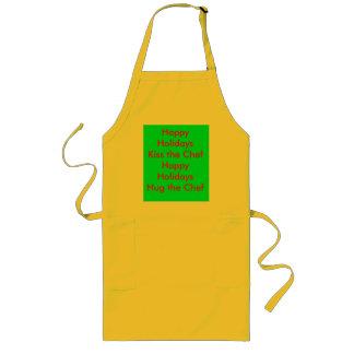 Glad helg kysser kocken Apron#2 Långt Förkläde