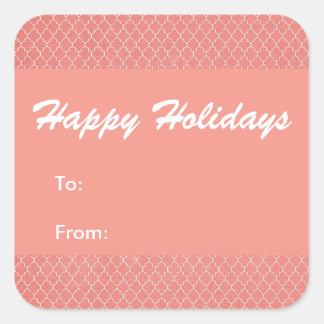 Glad helg omkullkastar rött fyrkantigt klistermärke