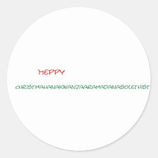 Glad helg runt klistermärke