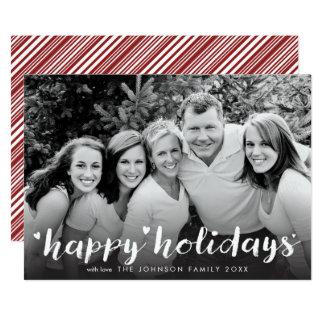 Glad helg som vit skrivar fotoet, överdrar 12,7 x 17,8 cm inbjudningskort