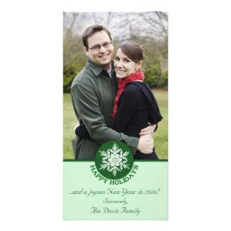 Glad helgdokument med olika förslagSnowflake 4x8 Fotokort