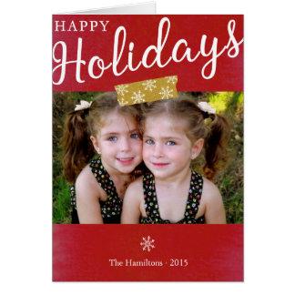 Glad helgjulfotoet noterar kortet OBS kort