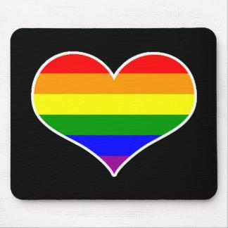 Glad hjärta Mousepad (regnbågen) Musmatta