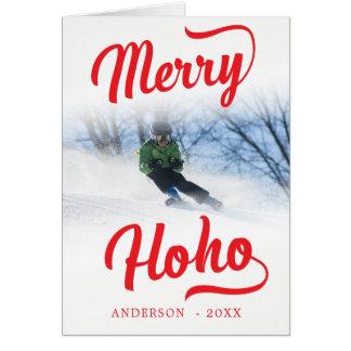 Glad Ho Ho Minimalist julfotomall Hälsningskort
