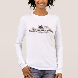 Glad kittymaskvinna skjorta för t tee