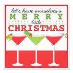 Glad lite julcocktailpartyinbjudan anpassade tillkännagivande