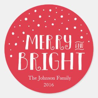 Glad & ljus jul runt klistermärke
