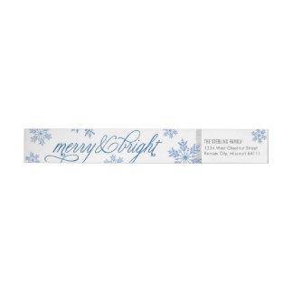 Glad & ljus returadress för klassikerSnowflake Etikettband
