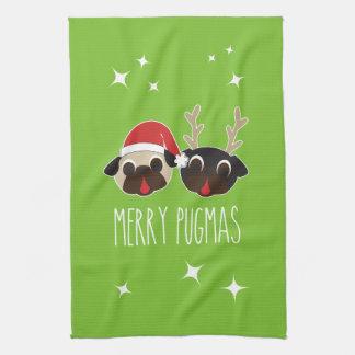 Glad mops Santa och handduk för renmopsmaträtt Kökshandduk