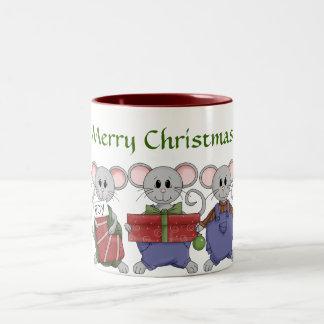 Glad natt för julmus Två-Tonad mugg