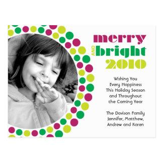 Glad och ljus fotovykort för helgdag 2010 vykort