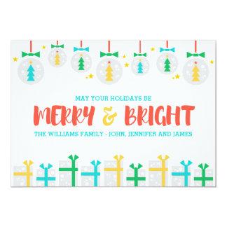 Glad och ljus helgdag 12,7 x 17,8 cm inbjudningskort