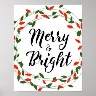 Glad och ljus - jul - affisch