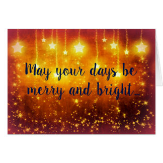 Glad och ljus jul hälsningskort