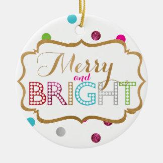Glad och ljus julprydnad julgransprydnad keramik